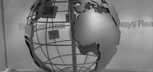 World Globe Earth 520x245 Map of the Internet: This mobile app visualizes the Internet in 3D