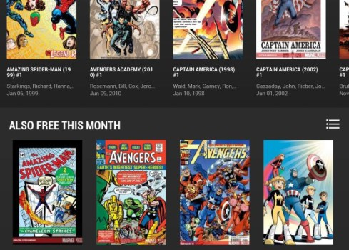 marvel unlimited on the iPad